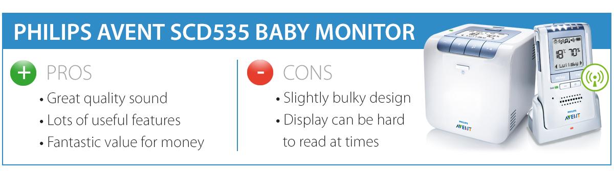 philips avent 535 baby monitor review ligo blog. Black Bedroom Furniture Sets. Home Design Ideas